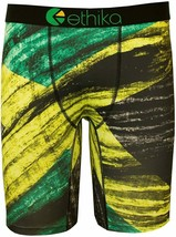 Ethika Hombre The Staple Kingston Bóxer Ropa Interior XL Amarillo/Verde Ethika