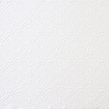 Victorian Tin Ceiling Textured Paintable Wallpaper 148-32817 - $22.56