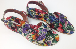 #375.00 Dolce Gabbana Printed Linen shoes sanda... - $139.89