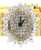 Wrist Watch Vintage gold diamond watch - $2,799.00