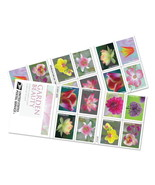 Garden Beauty 2021 USPS Forever Stamps  Booklet 20 Stamps First-Class  - $16.99