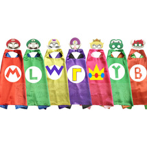 Mario Cape And Mask Set Costume Kids Birthday Party Favor Superhero Style - $21.60