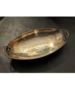 Hugo Grun H Gy Denmark Danish Modern Silver Plate Oval Candy Dish Tray - $21.49