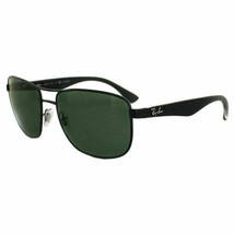 Ray ban Sonnenbrille RB3533 002/9A 57 Schwarz & Transparent Grün Polarisiert - $98.99