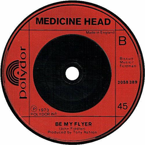 "Medicine Head 7"" vinyl single record Rising Sun UK 2058389 POLYDOR 1973"