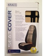 Kraco Auto Bucket Seat Covers Set of 2 Black Strings - Airbag Safe - NEW - $46.74