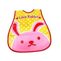 Lovely Cool Rabbit Adjustable Waterproof PVC Baby Bib Pocket Protect Bib 4528CM