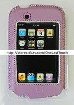 BELKIN CASE for IPOD TOUCH Purple+White Stitching FORMED LEATHER Protect... - $6.91