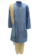 Krishna Sarees BYK3169 Sky Blue and Ivory Boys Kurta Pyjama Indian Fancy... - $32.21+