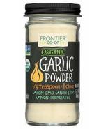 Frontier Co Op, Organic Garlic Powder, 2.33 oz, ground, no salt - $11.99