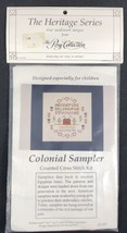 "Posy Collection Counted Cross Stitch Colonial Sampler 7"" x 7"" Heritage H... - $14.80"