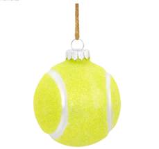 Pottery Barn Mercury Glass Tennis Ball Christmas Ornament Tree Decoration New - $8.42