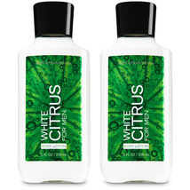 Bath & Body Works White Citrus For Men Body Lotion 8 fl oz Set Of Two Bo... - $22.39