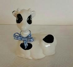 Vintage Steven Rhodes Ceramic Holstein Cow Soap Lotion  Pump Dispenser - $18.00