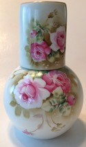 Vintage Water Carafe & Cup Lefton China Heritage Rose Hand Painted Decan... - $39.60