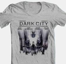 Dark City T-shirt Free Shipping retro 1990s science fiction movie grey tee image 1