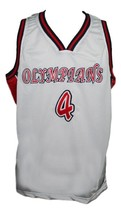 Russell Westbrook #4 Olympians HS Basketball Jersey Sewn White Any Size image 1