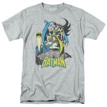 Batman Robin T-shirt SuperFriends retro 80s cartoon DC grey graphic tee DCO122 image 1