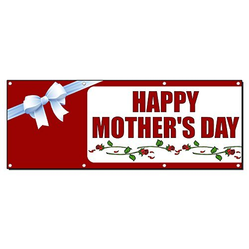 Happy Mother'S Day Banner Sign 5 Ft X 12 Ft /W 12 Grommets