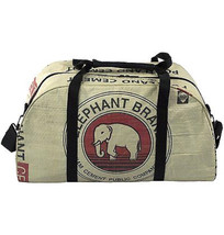 Global Fashion Mission Weekender Bag Up-cycled Elephant Travel Carry On ... - $1.700,58 MXN