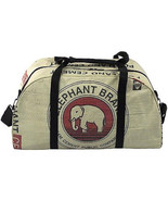 Global Fashion Mission Weekender Bag Up-cycled Elephant Travel Carry On ... - $83.15