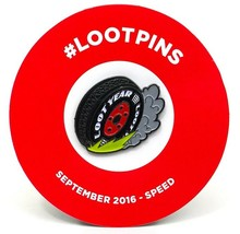 Loot Crate 'Loot Year Tire' Pin - September 2016 - $5.89
