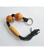 Black Nylon and Wood  Keychain Keyring Key Fob Key Keeper R56 - $11.87