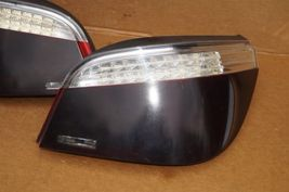 08-10 BMW E60 LED Tail Light Lamps Set Pair Left Right LH & RH - Smoked image 3