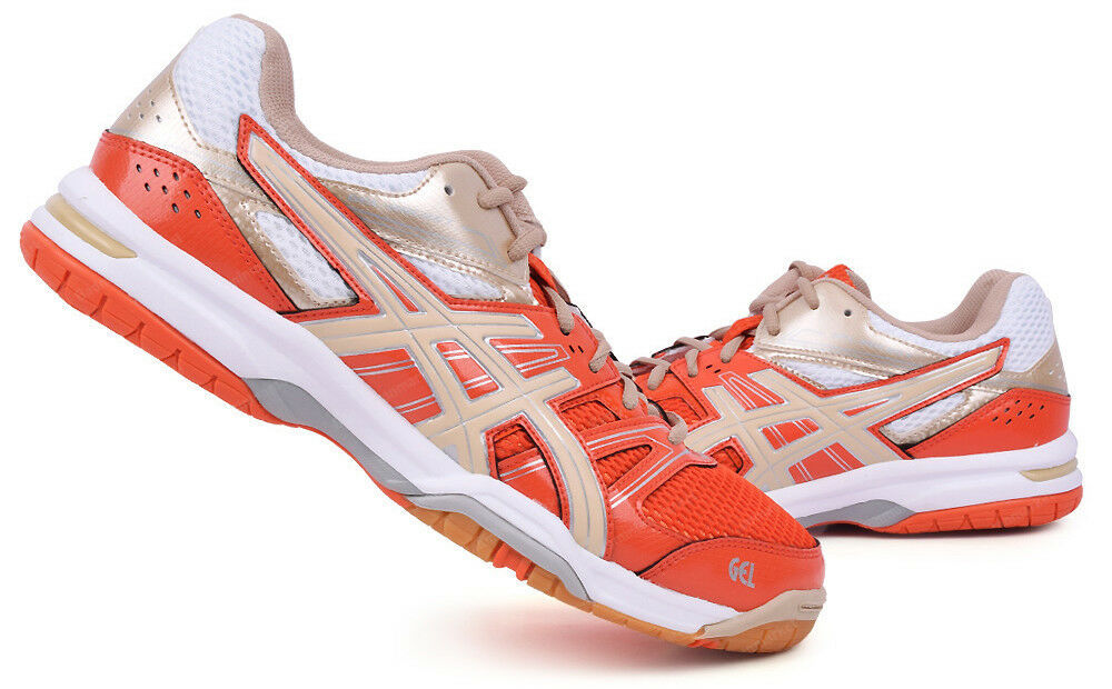 Primary image for ASICS GEL ROCKET 7 Men's Badminton Shoes Orange Indoor Shoes Racket B405N-3005
