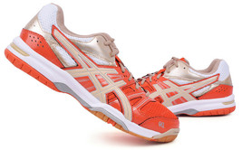 ASICS GEL ROCKET 7 Men's Badminton Shoes Orange Indoor Shoes Racket B405... - $89.19