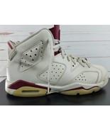 Nike Air Jordan Retro 6 OG BG Off White New Maroon 836342-115 VI Red 6.5 Y - $116.99