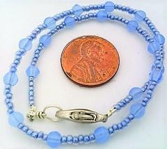 Light Sapphire Opal Glass Bracelet - $12.03