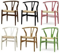 Danish Wishbone Y C24 Inspired Dining Chair - Natural, Blck, Ivory, Brown - $305.97