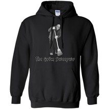 Funny Pun Men's Winter Hoodies Black Navy The Grim Sweeper Full Size S-5XL - $39.55