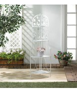 """Butterfy White 4 Tier Corner Rack 58"""" Tall Plant Stand - $74.95"""