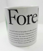 Starbucks Sports Fore! Golf Coffee Tea Mug Cup 1996 Oversize 16 oz Greer... - $28.91