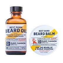 Duke Cannon Beard Bundle: Best Beard Oil, 3oz + Beard Balm, 1.6oz / Made with Na