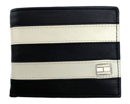 Tommy Hilfiger Men's Leather Wallet Passcase Billfold Navy Bone 31TL22X040 image 2