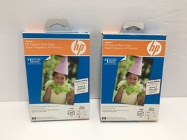 """HP Q1989A (Lot of 2) Premium Photo Paper Glossy 4"""" x 6"""" 60 Sheets - NEW & Sealed - $18.99"""