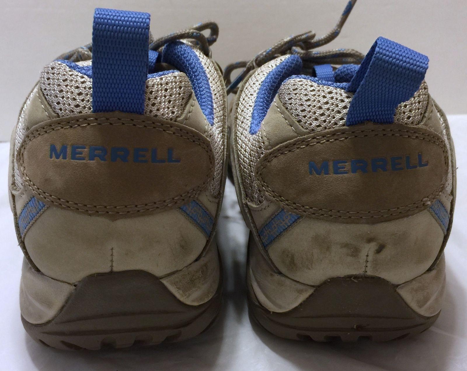 Merrell Siren Sport Aluminum Washed Denim Hiking Shoes Size 7.5 Vibram Soles