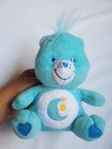"Care Bears BEDTIME blue with moon & star 7"" BEAR stuffed figure toy Nanco 2003 - $8.86"