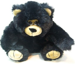 "Fiesta 1989 VINTAGE BLACK AND TAN TEDDY BEAR 8"" Plush Stuffed Animal TOY - $18.32"