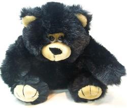 "Fiesta 1989 Vintage Black And Tan Teddy Bear 8"" Plush Stuffed Animal Toy - $18.32"