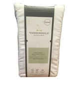 Standard 300 Thread Count ORGANIC Pillowcase Set standard White Threshold NEW! - image 1