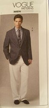 NEW Vogue Men's Suit Jacket & Pants Sizes 34-40 Pattern 8719 Uncut /FF image 2