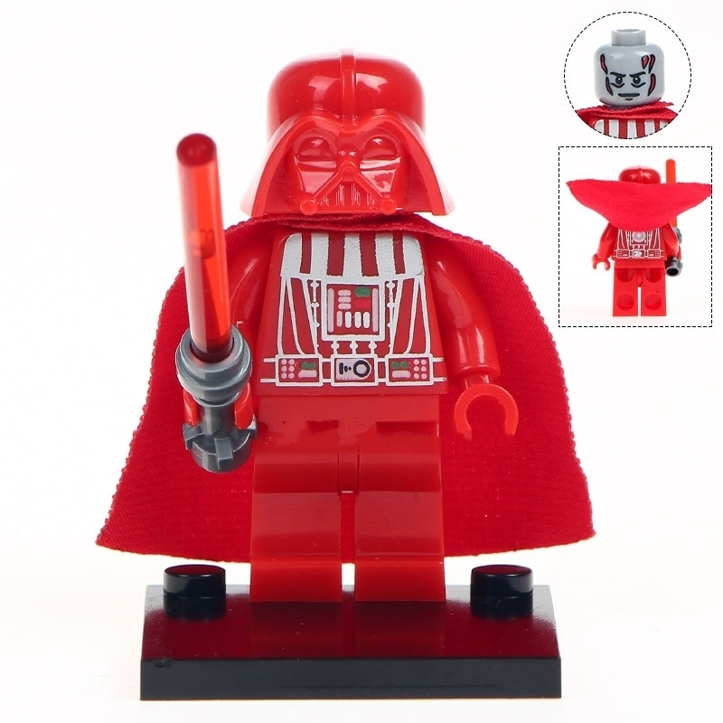 Blood Red Darth Vader Star Wars Lego Minifigures Block Toy Gift for Kids
