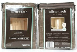 "2 Packages Allen & Roth 52"" X 84"" Williamston 0310590 Linen Rod Pocket Panel - $38.99"