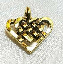 CELTIC KNOT HEART FINE PEWTER PENDANT CHARM - 15mm L x 15mm W x 2mm D image 3