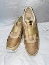 UGG Gold Metallic Leather Slip On Sneaker ANNETTA, S/N 1019657, Women Si... - $89.00