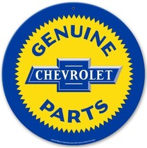 "Chevrolet Genuine Parts 14"" Round Metal Sign - $29.95"